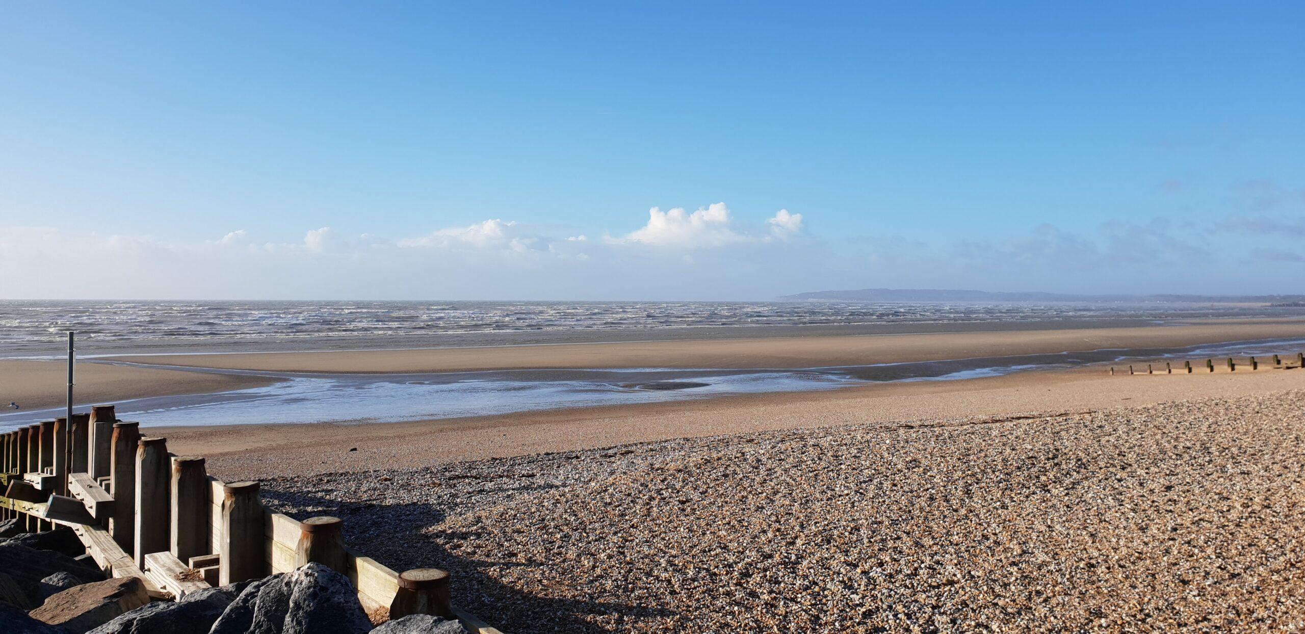 Beach with groynes